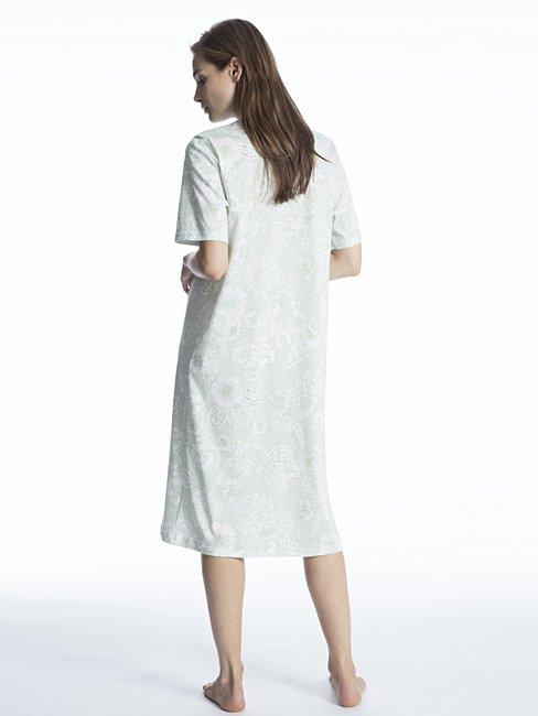 CALIDA Soft Cotton Nachtkleid mit Stehkragen, Länge 110cm