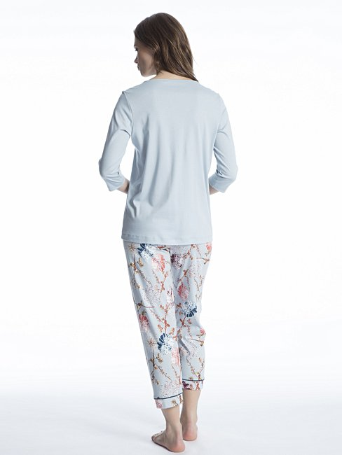 CALIDA Cosy Flowers 7/8-Pyjama mit 3/4-Arm