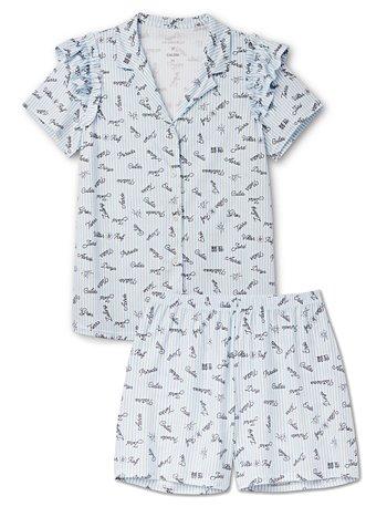 CALIDA VIKTOR&ROLF X CALIDA Kurz-Pyjama mit Rüschen, Compostable