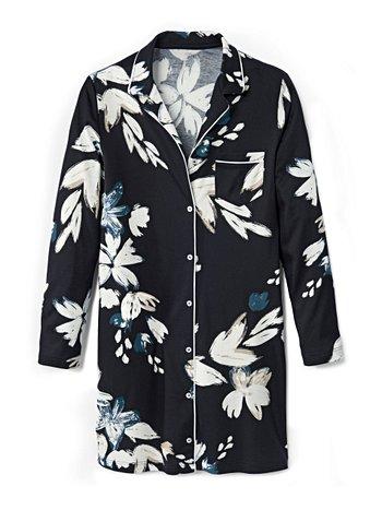 CALIDA Cosy Choice Sleepshirt, durchgeknöpft, Länge 90cm