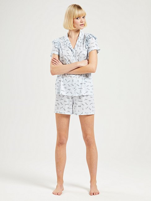 CALIDA VIKTOR&ROLF X CALIDA Short pyjama with frills, Compostable