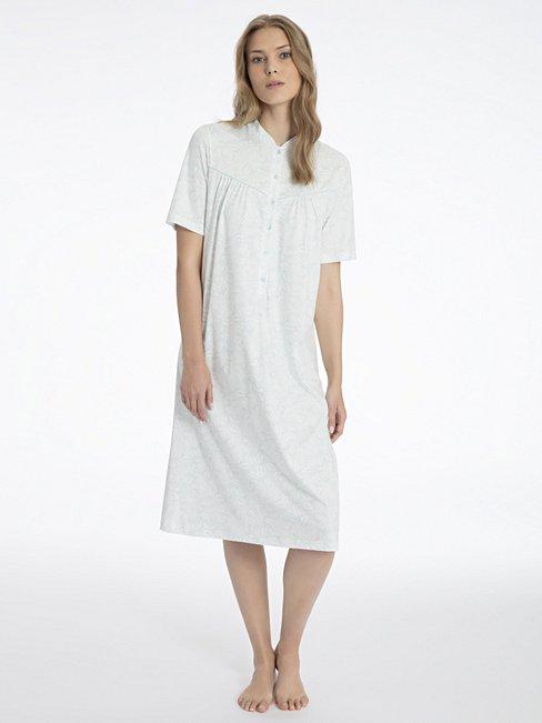 CALIDA Soft Cotton Kurzarm-Nachthemd mit Knopfleiste