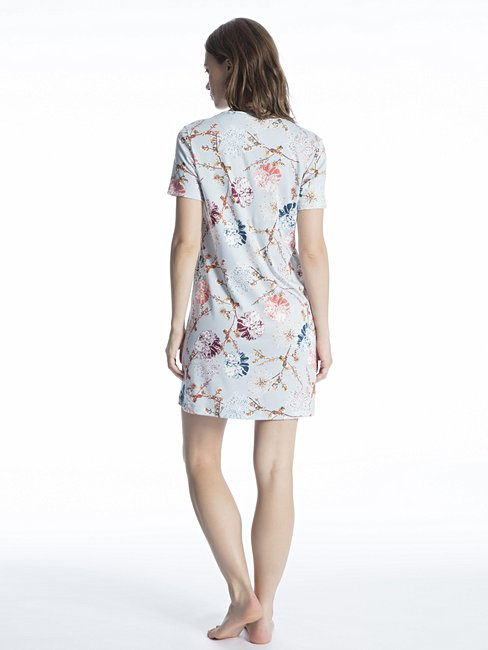 CALIDA Cosy Flowers Sleepshirt, length 90cm