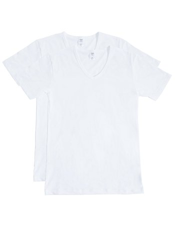 CALIDA Natural Benefit V-Shirt, 2-Pack