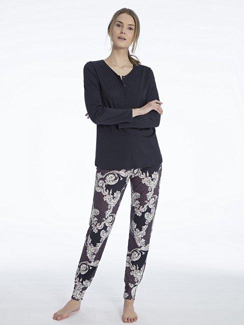 CALIDA Shirin Bündchen-Pyjama mit Paisleydruck
