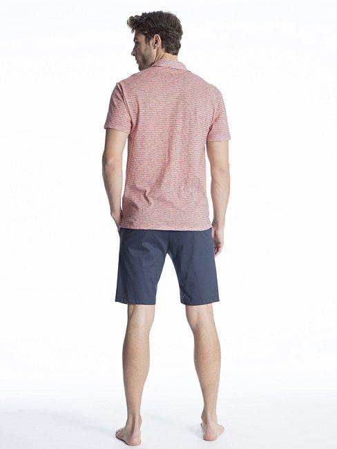 CALIDA Casual Easy 2 Kurz-Pyjama mit Knopfleiste