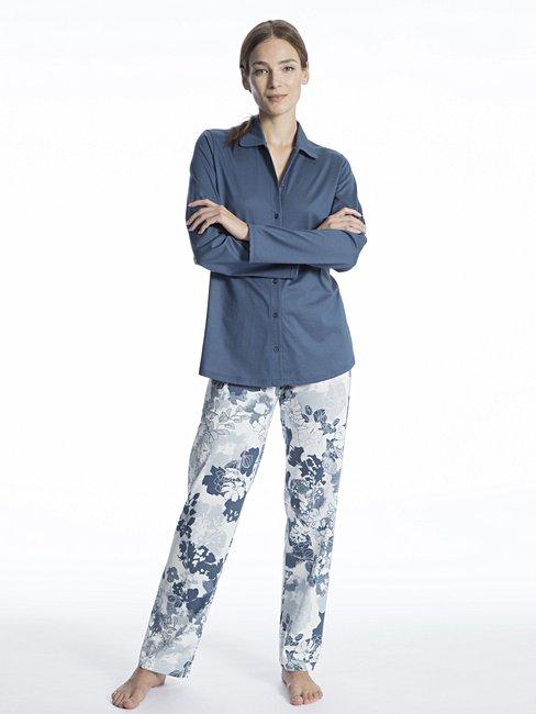 CALIDA Soft Jersey Fun Pyjama durchgeknöpft