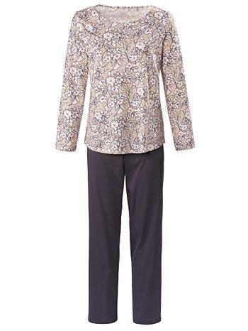 CALIDA Olivia Pyjama lang mit Schulterdetail