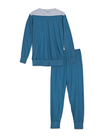CALIDA Soft Cotton Bündchen-Pyjama