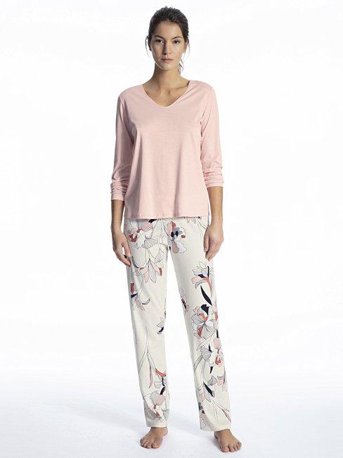CALIDA Favourites Trend 1 Langarm-Shirt, V-Neck