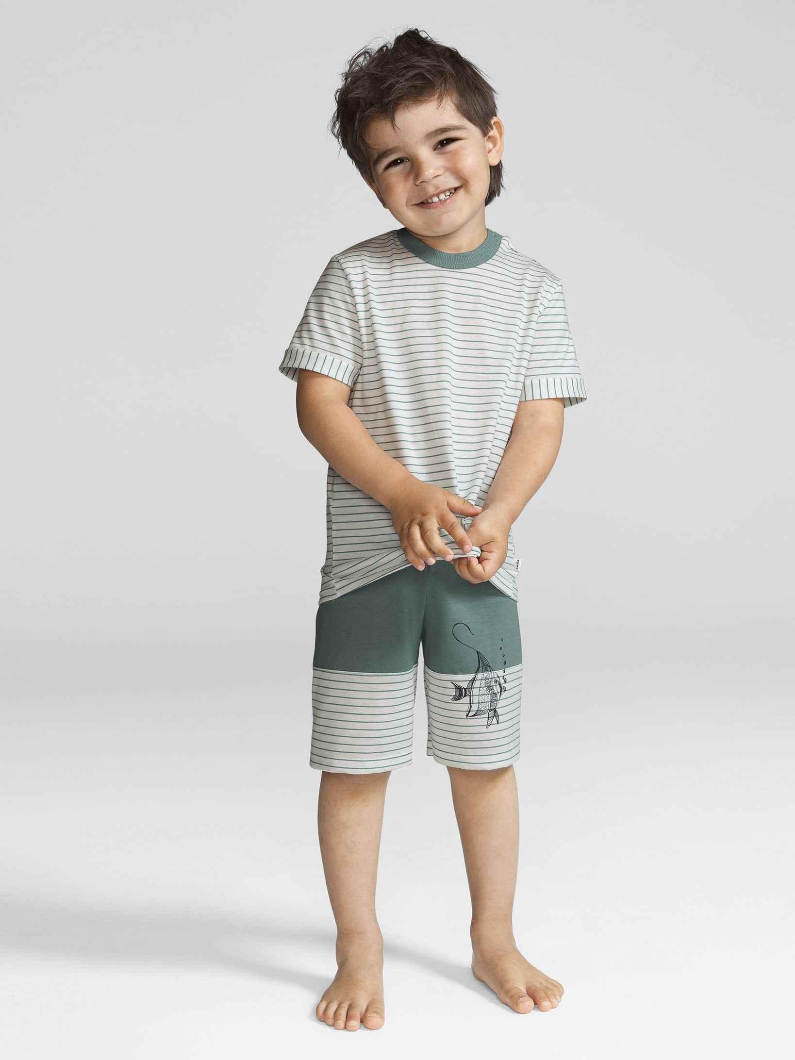 Kinder CALIDA Under The Sea Kinder-Kurz-Pyjama grün   07613381022504