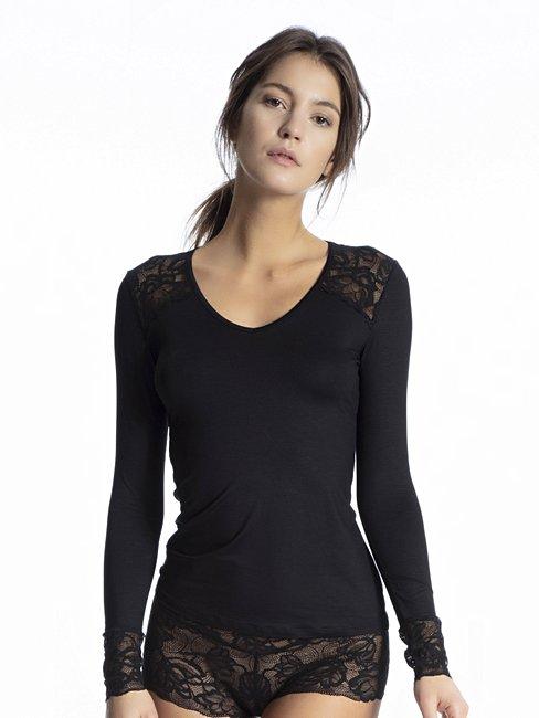 CALIDA Modal Lace Shirt a manica lunga
