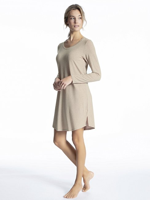 CALIDA Cosy Wool Big Shirt mit Wolle, Länge 90cm