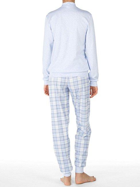 CALIDA Karelia Bündchen-Pyjama mit Stehkragen