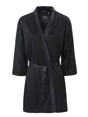 CALIDA Liz Kimono mit Seiden-Einsatz, Länge 90cm