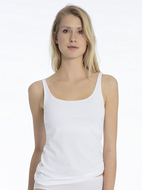 CALIDA Comfort Tank top with inner bustier white   CALIDA Online-Shop ba6fd42d8a