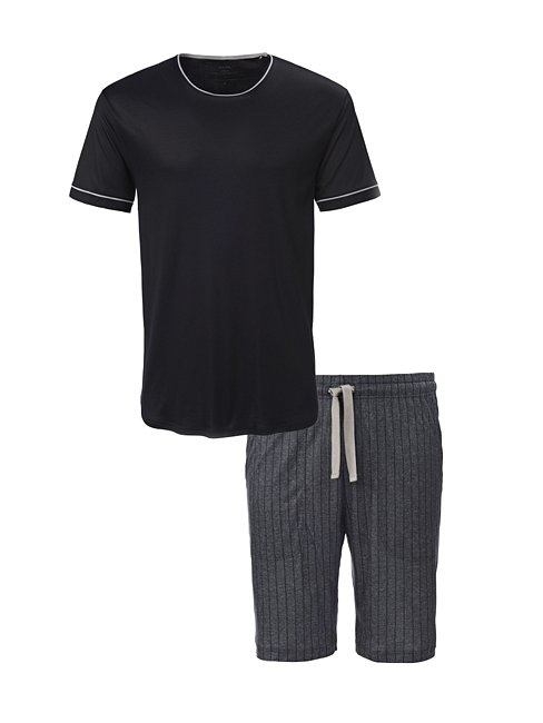 CALIDA Elay Kurz-Pyjama mit Seitentaschen
