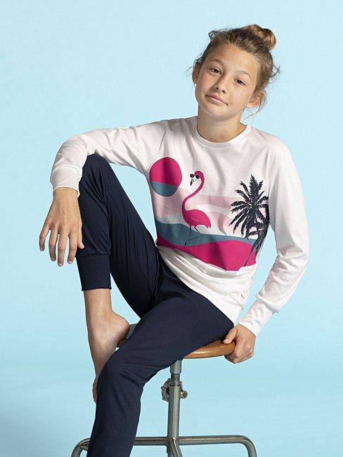 CALIDA Flamingo Mädchen Bündchen-Pyjama