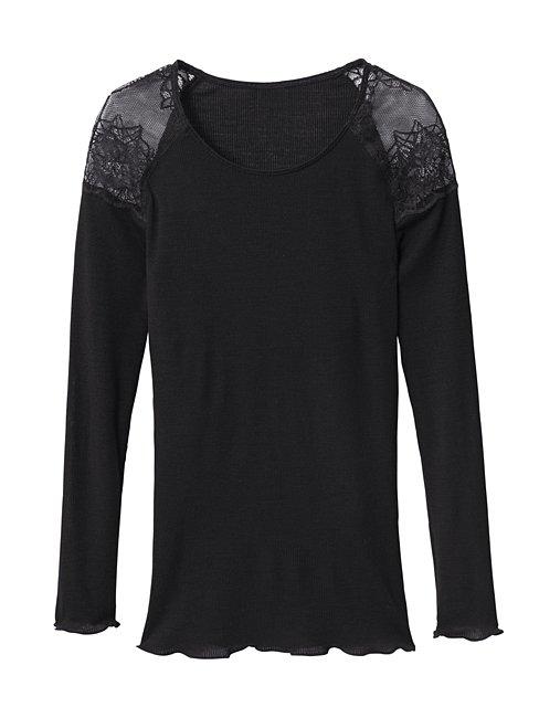 CALIDA Ines Langarm-Shirt aus Wolle-Seide